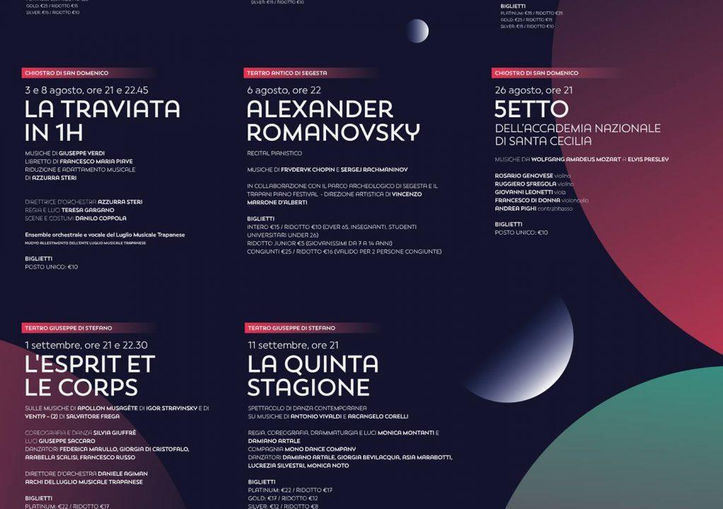 Il programma del Luglio Musicale Trapanese